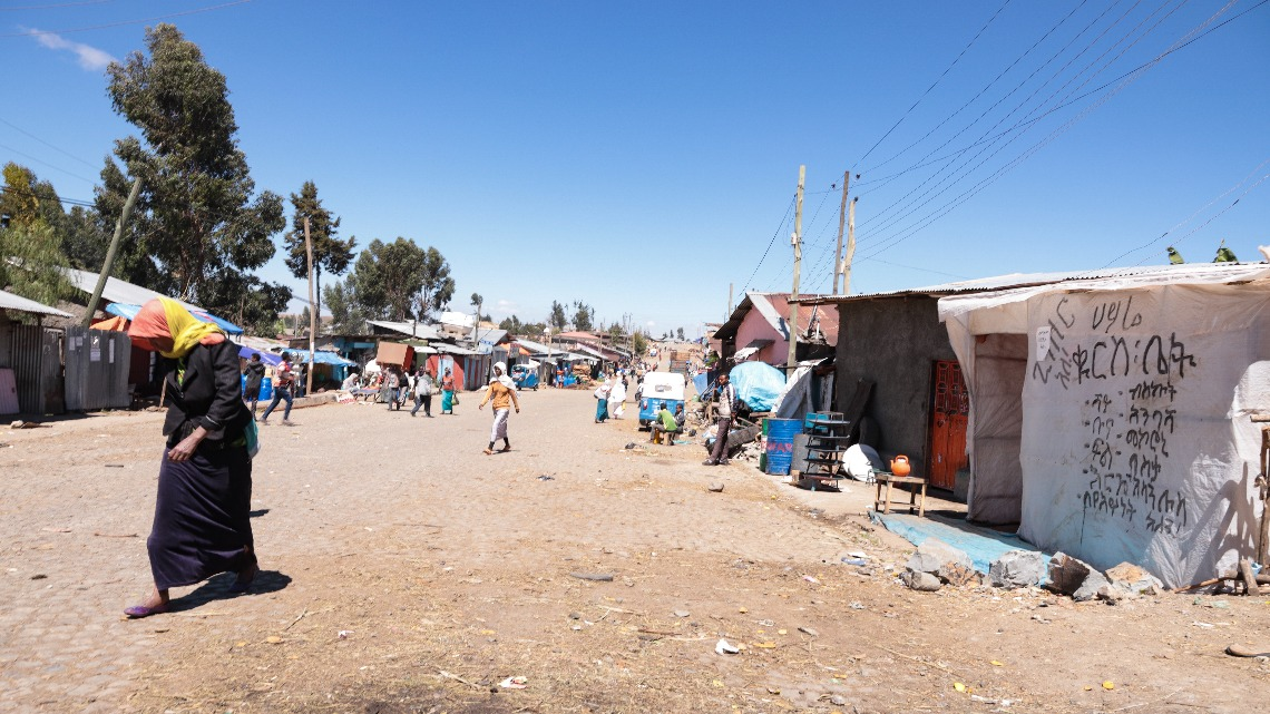 Street view of crisis-hit Debre Berhan