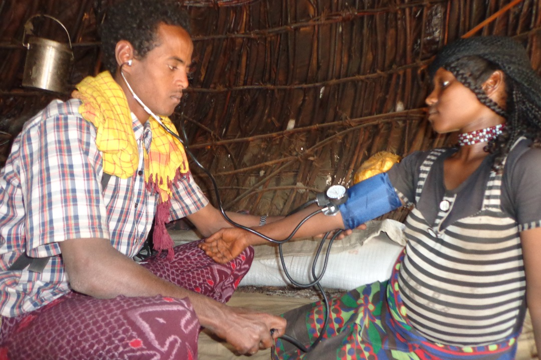 Rural health check up in Afar, north-eastern Ethiopia