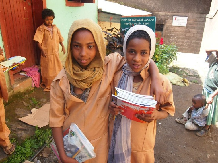 Orphans in Ethiopia at their group children's home