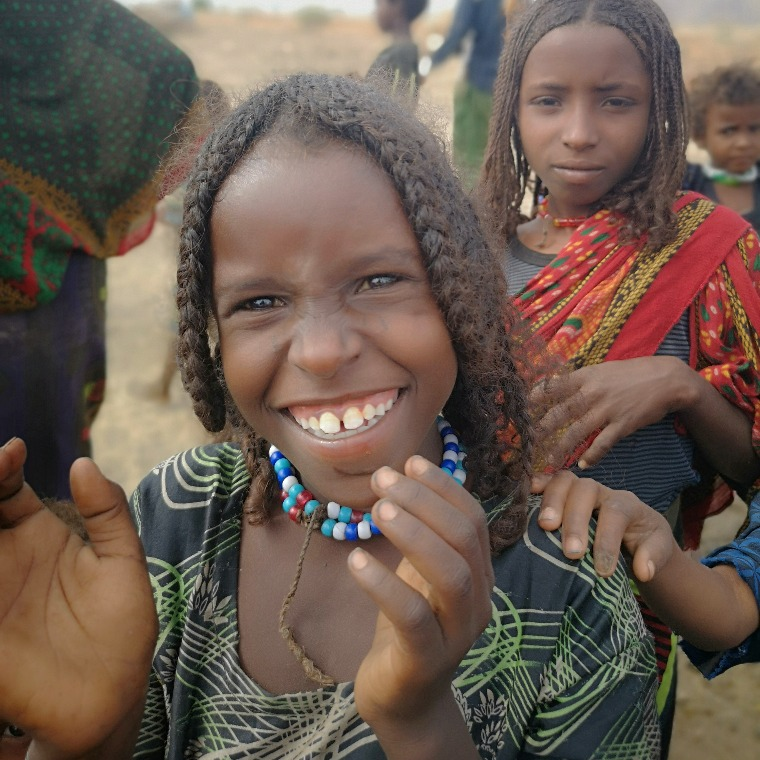Smiling girl in Afar, Ethiopia