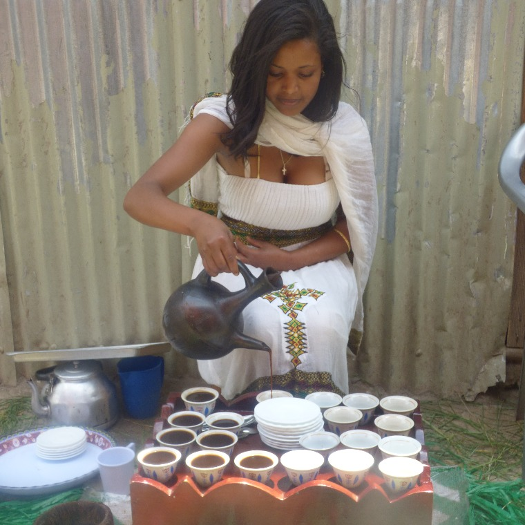 Hosting an Ethiopian coffee ceremony is a unique fundraising idea
